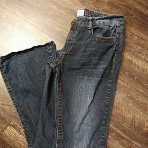Hydralic Boot cut Jeans with Velcro and Button Fly